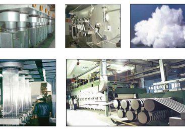 Xơ Polyester khi sản xuất